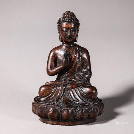 Chen Xiang wood carved statue of Sakyamuni Buddha