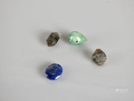 Diverses pierres,taillées ou non.