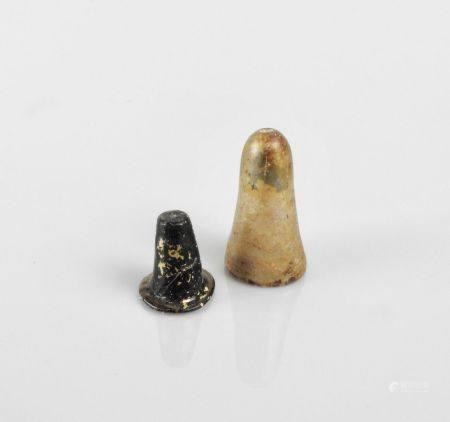 Deux verreries.Période islamique.H :3 à 5cm.