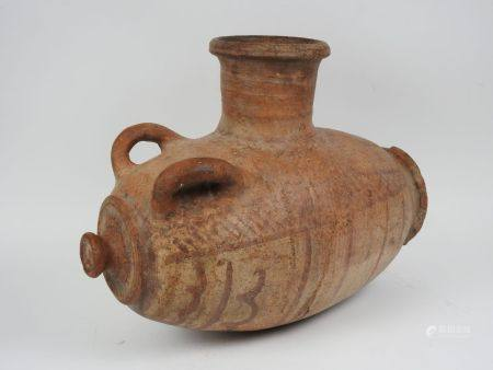 Vase à grains.Terre cuite à décor géométrique.Méditer- ranée orientale dans la tradition des pr