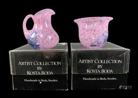 Kosta Boda Artists Collection Cream And Sugar
