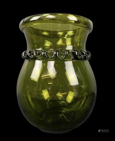 Early Mcm Ekenas Swedish Art Glass Vase, Lake