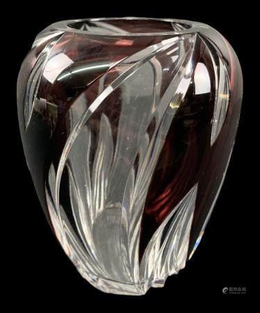Val St Lambert Cameo Cut Art Deco Vase