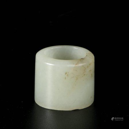 chinese white jade archer ring