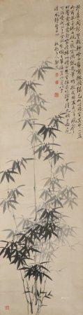 chinese bamboo painting by zheng banqiao
