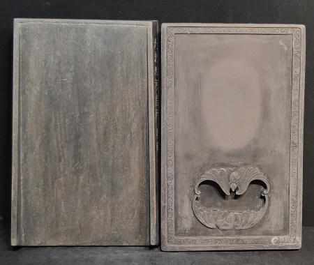 石硯枱共兩件
