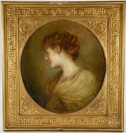 Portrait of Lida Mitchel Fenton by Von Lenbach