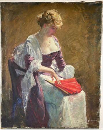 Impressionist Portrait of Woman, Weis Attribution
