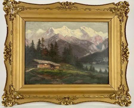 Mountainous Landscape by Rudolph Tschudi