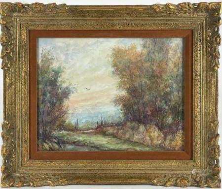 Monogrammed Landscape Gouache