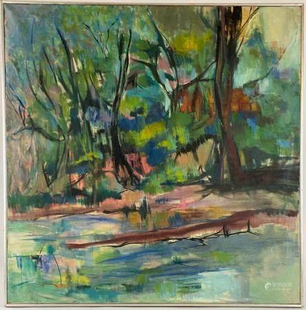 Oil Landscape, 1963 by MaCrae