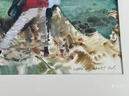 Coastal Watercolor by Charles Hawes