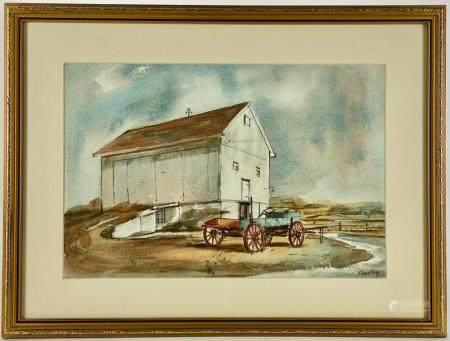 Floyd Berg (Cincinnati, 1917-2004), Watercolor