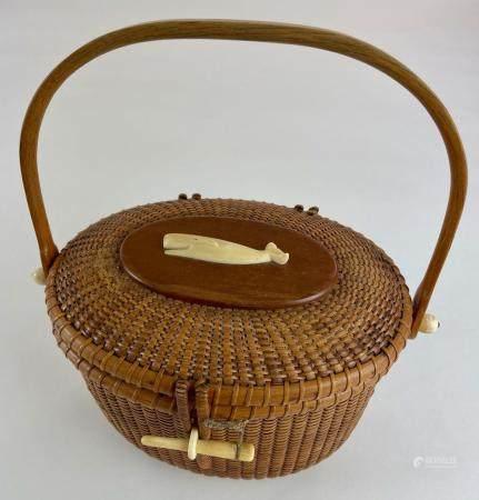 "Stephen Gibbs Nantucket ""Lightship"" Basket"