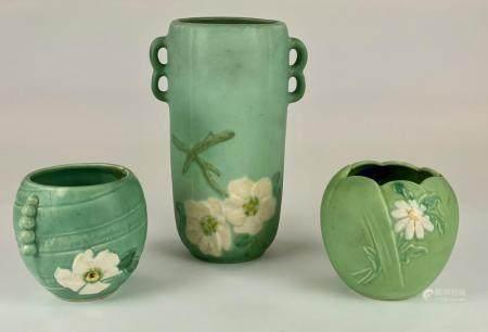 Three Weller Pottery Vases