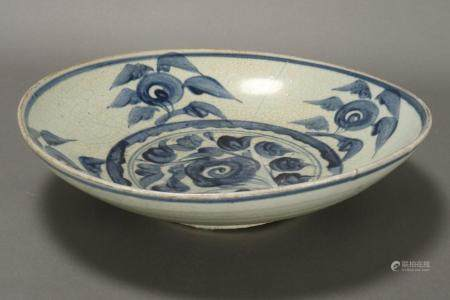 Chinese Qing Dynasty Crackle Glaze Charger,