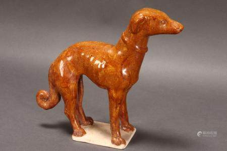 Delightful Chinese Marble Glaze Figure of a Dog,