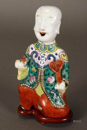 Good Chinese Qing Dynasty Porcelain Figure,