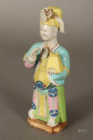 Chinese Late Qing Dynasty Porcelain Figure,