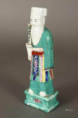 Chinese Late Qing Dynasty Porcelain Immortal,