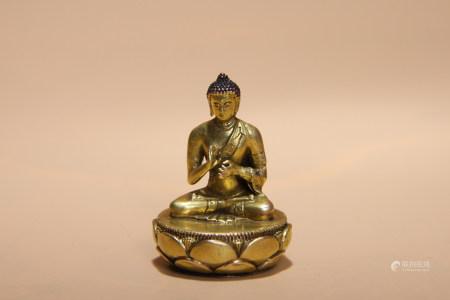 清 銅鎏金釋迦摩尼一寸佛