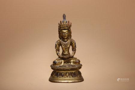 明 銅鎏金菩薩像