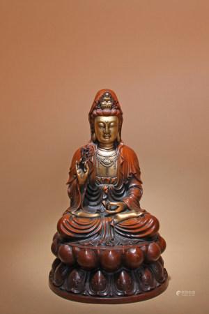 清 銅鎏金觀音菩薩