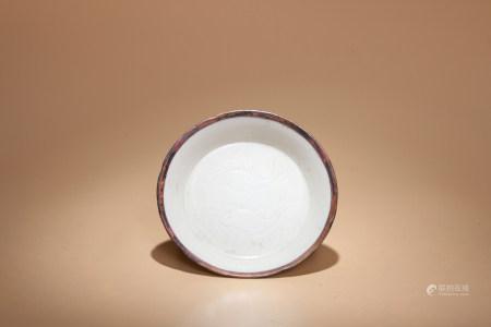 宋 定窯魚草盤