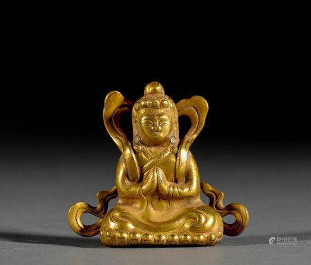 Golden Avalokitesvara Statue Made in Song Dynasty宋代金制觀音像
