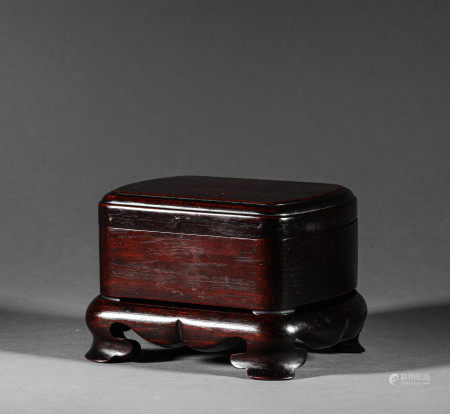 A Rosewood Jewellery Box from Qing Dynasty清代紫檀木首飾盒