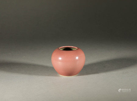 Cherry Red Water Vase in Qing Dynasty清代櫻桃紅水盂