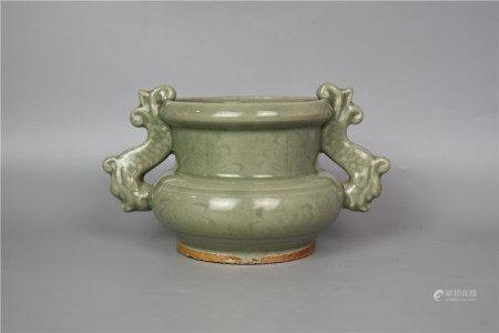 Ming Dynasty--Longquan Kiln Incense Burner