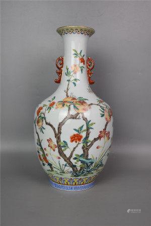 Qing Daoguang--Famille rose multi-child multi-fu amphora