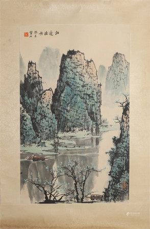 Bai Xueshi mooring a boat by the river