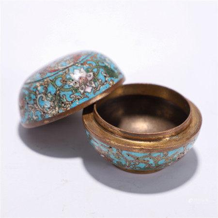 Cloisonne lid box, Qing Dynasty