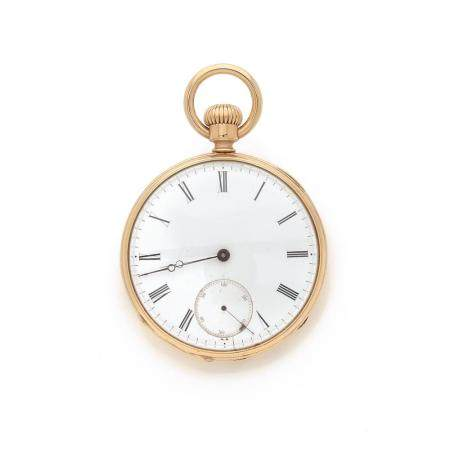 ANONYME DEBUT XXe SIECLE A gold 18K pocket watch from the early 20th century.