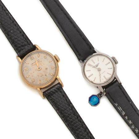 LONGINES ANNEES 1950 A lot of two manual winding lady's watch by Longines, from the 50's.