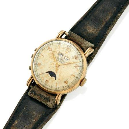 ANGELUS DATOLUXE A stainless steel and gold plated manual winding wristwatch by Angelus, from the 40's.