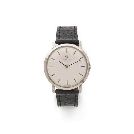 OMEGA VERS 1960 A 18K white gold manual winding wristwtach by Omega, from the 60's.