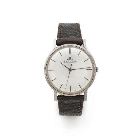 JAEGER LECOULTRE VERS 1960 A stainless steel manual winding wristwtach by Jaeger Lecoultre, from the 60's.