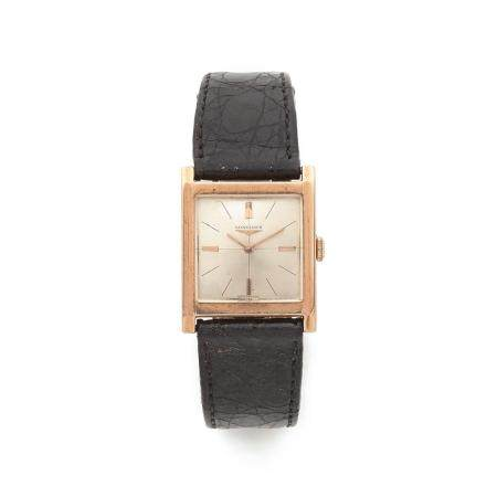 LONGINES ANNEES 1950 A 18K pink gold manual winding wristwatch by Longines, from the 50's.