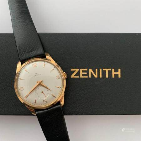 ZENITH ANNEES 1950 A pink gold manual winding wristwtach by Zenith, from the 50's.