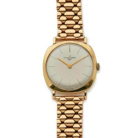 ULYSSE NARDIN ANNEES 1960 A 18K gold manual winding wristwatch by Ulysse Nardin, from the 60's.