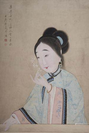 Attributed to Gai Qi (1774-1829) Portrait of a Beauty