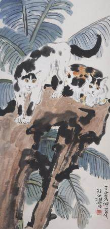 Attributed to Xu Beihong (1895-1953) Two Cats