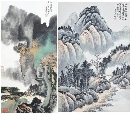 Liu Jianguo (b. 1960) and Binzhu (20th century) Landscapes (2)