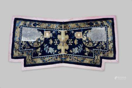 A horse-back 'floral' rug Ningxia, late Qing dynasty