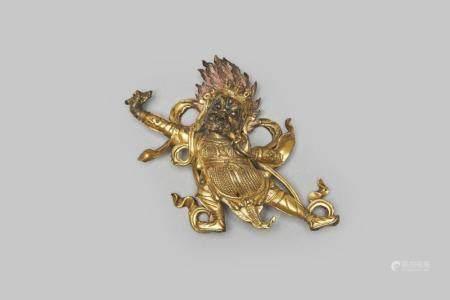 A gilt-bronze figure of a Mahakala 18th/ 19th century