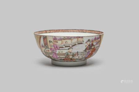 A famille-rose reserve-decorated bowl Qianlong period