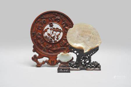 A group of three scholar's objects Late Qing to Republic period (3)